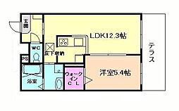シャーメゾン田川[3階]の間取り