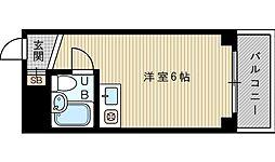 大阪府吹田市南高浜町の賃貸マンションの間取り