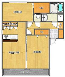 ボナールSIIIA棟[1階]の間取り
