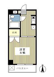 サンモール第3青葉台[404号室]の間取り