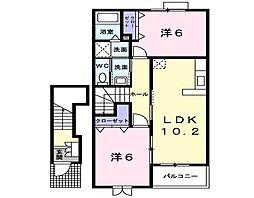 新潟県新潟市北区木崎の賃貸アパートの間取り