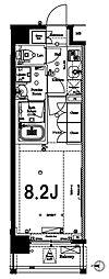 アクサス新高円寺Sta. 4階1Kの間取り