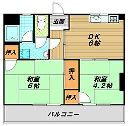 コーポラスハタ[2階]の間取り
