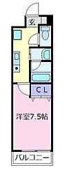 チエロマレ天美東[4階]の間取り
