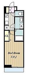 小田急小田原線 百合ヶ丘駅 徒歩13分の賃貸アパート 2階1Kの間取り
