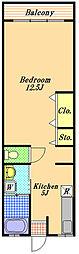 コミネマンション[1階]の間取り