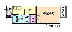 大阪府豊中市南桜塚3丁目の賃貸アパートの間取り