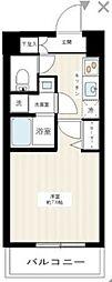JR南武線 武蔵新城駅 徒歩9分の賃貸マンション 4階1Kの間取り