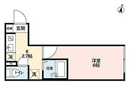 ルミナス浦和(ルミナスウラワ)[1階]の間取り