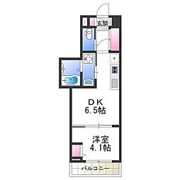 Osaka Metro御堂筋線 あびこ駅 徒歩6分の賃貸マンション 4階1DKの間取り