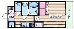 おおさか東線 JR淡路駅 徒歩6分の賃貸マンション 9階1Kの間取り