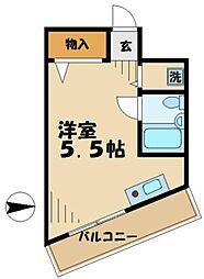 プチコート高幡[0201号室]の間取り