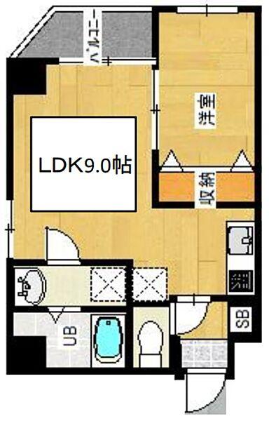 金太郎 Hills 276[3階]の間取り