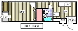 堀川ビル[306号室]の間取り