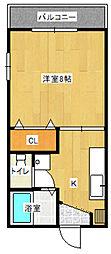 パルティ—ルF[1階]の間取り