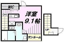 埼玉県所沢市御幸町の賃貸アパートの間取り