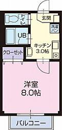 静岡県藤枝市前島2丁目の賃貸アパートの間取り