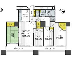 JR京浜東北・根岸線 大宮駅 徒歩10分の賃貸マンション 5階4LDKの間取り