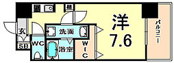 エクセルコート昭和通 Bright Place 7階1Kの間取り