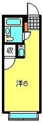 神奈川県横浜市南区大岡2丁目の賃貸マンションの間取り