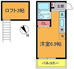千葉県浦安市入船4丁目の賃貸アパートの間取り