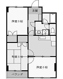 マンションオリーザ[5階]の間取り