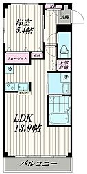 東京都大田区大森東3丁目の賃貸マンションの間取り