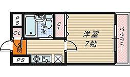 大阪府堺市堺区向陵西町4丁の賃貸マンションの間取り