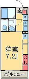 JR京葉線 稲毛海岸駅 徒歩7分の賃貸アパート 1階1Kの間取り