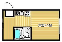 Osaka Metro今里筋線 井高野駅 徒歩8分の賃貸マンション 3階1Kの間取り