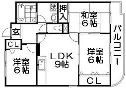 INIゴールド&アベニュー[2階]の間取り