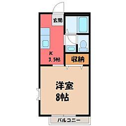 ピュアシャンブル[1階]の間取り