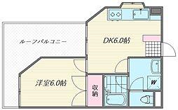 クリーンハイツ平井[302号室]の間取り