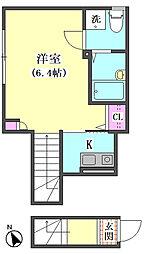 仮)大田区東矢口3丁目1410新築アパート[204号室]の間取り