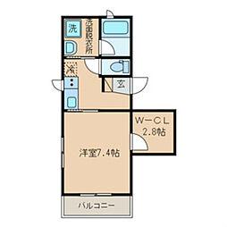 京王線 初台駅 徒歩7分の賃貸マンション 3階1SKの間取り