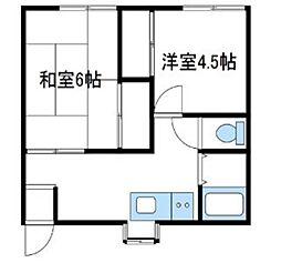 神奈川県海老名市国分北3丁目の賃貸アパートの間取り