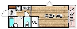 JR東海道・山陽本線 摂津富田駅 3.6kmの賃貸マンション 1階1Kの間取り