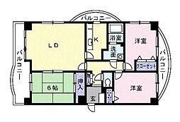 ロイヤルパークマンション[705号室]の間取り