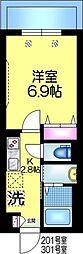 仮称)平田3丁目9メゾン 2階1Kの間取り