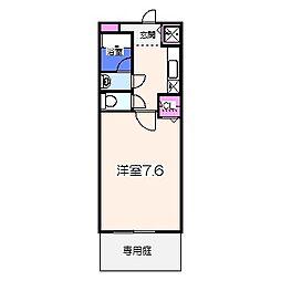 泉北高速鉄道 和泉中央駅 徒歩14分の賃貸アパート 1階1Kの間取り