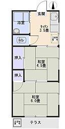 見晴荘[1階]の間取り