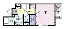 東京都文京区白山1丁目の賃貸マンションの間取り