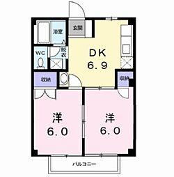 ドミール鳴神II[2階]の間取り