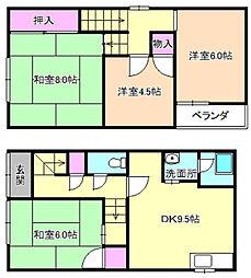 [一戸建] 大阪府枚方市磯島元町 の賃貸【/】の間取り