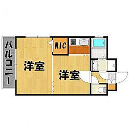 福岡県福岡市博多区堅粕5の賃貸マンションの間取り