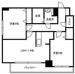 LEE SPACE栄通[6階]の間取り