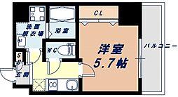 Osaka Metro千日前線 阿波座駅 徒歩7分の賃貸マンション 9階1Kの間取り