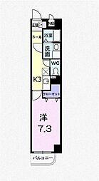 東京都西東京市富士町6丁目の賃貸マンションの間取り