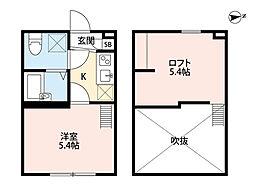 レイズ橋本(レイズハシモト)[1階]の間取り