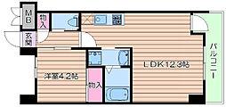 大阪府吹田市藤白台1丁目の賃貸マンションの間取り